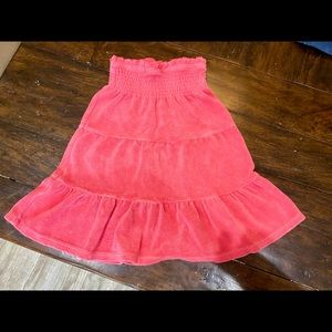 Gymboree Strapless Terry Cover up, Size 6
